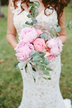 A pretty bouquet of pink peonies