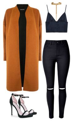 """""""Pop of Orange Chic"""" by maria-bowles on Polyvore featuring T By Alexander Wang, Warehouse, Eddie Borgo and Boohoo"""