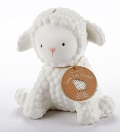 What a cute and cuddly Easter gift! 100% ceramic and hand washable Have you ever seen a coin bank this cute and cuddly? Once again, Baby Aspen transforms an ordinary item into a keepsake treasure that