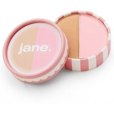 Jane Cosmetics Blushing Bronze Duo Compact, Pink ($12) ❤ liked on Polyvore featuring beauty products, makeup, cheek makeup, blush, beauty, fillers, cosmetics, pink and jane blush