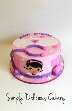 Doc Mcstuffins themed  Buttercream with fondant accents  Hand painted doc