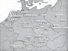 kaart met alle belangrijke kampen
