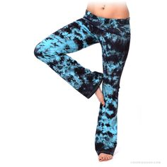 Tangled Up in Blue Tie Dye Yoga Pants Black/Blue on Sale for $39.95 at The Hippie Shop
