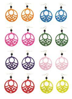 summer sample sale!!  Hannah earrings // colorful laser cut wood earrings // Katie Bartels gemstone jewelry // $12