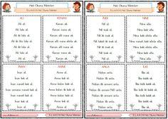 Turkish Lessons, Learn Turkish, Turkish Language, Sign Language, Primary School, Journal, Education, Sayings, Learning
