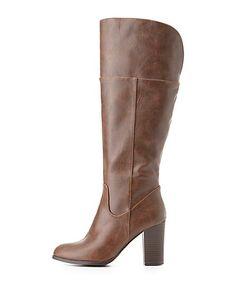 Chunky Heel Riding Boots charlotterusse #charlottelook