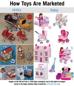 """""""Toy advertisements actually appeared to be the least gendered around 1975"""""""