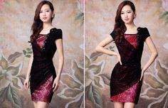 Đầm Suông Ren Hoa Vạt Chéo 1771 Giá chỉ: 419.000đ Click mua ngay nhé cả nhà: http://www.diadiemvang.net/deal/dam-suong-ren-hoa-vat-cheo-1771-i6924.html Đầm Suông Ren Hoa Vạt Chéo 1771 Sản xuất tại: Việt Nam Chất liệu: thun laza+ren+voan Màu sắc: đen-đỏ       Kích thước: Freesize; Dài: 85cm, Vai: 35cm, Ngực 88-90cm, Eo 68-70cm, Mông 80-92cm Thiết kế trẻ trung, thời trang Gam màu sang trọng, trang nhã
