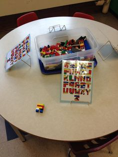 Building letters with Lego