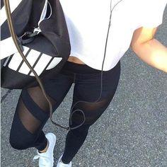 Streetwear Athletic Mesh Leggings