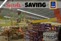 The Secret to Saving on Groceries at ALDI.  Pretty much my main grocery store since moving to Texas.