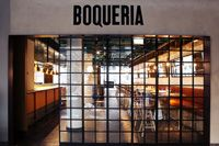 BOQUERIA fabulous tapas restaurant, situated in Mood Galleria citycenter Stockholm Stockholm Food, Tapas Restaurant, Restaurant Interiors, Retail Facade, Coffee World, Bar Interior, Interior Ideas, Industrial Dining, Trip Planning