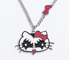 KISS x Hello Kitty Necklace hello kitty looks wicked dressed up like KISS