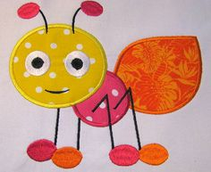 JUST LISTED - Cute Crawling Bug 02 Machine Applique Embroidery by KCDezigns, $3.50