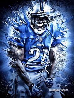 NFL: Reggie Bush, Detroit Lions by Matthew Sharpe, via Behance Detroit Lions Players, Detroit Lions Football, Detroit Sports, Football Art, Fantasy Football, Lions Team, Reggie Bush, Nfc North, Indianapolis Colts