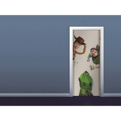 Sticker de porte Disney Toy Story (Woody, Rex et Buzz l'�clair)