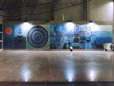 Syed Haider Raza   Estação / Station Oriente   Metropolitano de Lisboa / Lisbon Underground   1998 #Azulejo #AzulejoDoMês #AzulejoOfTheMonth #Água #Water #SyedHaiderRaza #Lisboa #Lisbon #MetroDeLisboa
