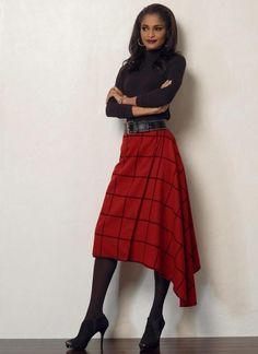 Asymmetric Vogue 8596 skirt