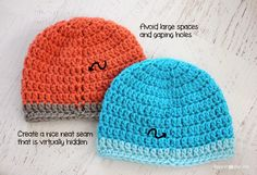 tutorial to avoid large gaping holes on hats. Repeat Crafter Me