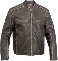 River Road Drifter Classic Street Riding Leather Motorcycle Jacket