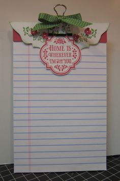 Just Sponge It: Notepads with clip and stamp in bottom corner