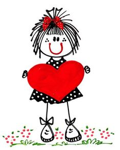 ADVERTISEMENT 10 Videos About Valentines Day Drawings that Will Make You Laugh The top are some things that differs from person to person. Doodle Art, Heart Doodle, Stick Figures, Stone Art, Be My Valentine, Rock Art, Painted Rocks, Art For Kids, Coloring Pages