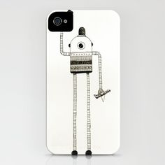 robot iPhone Case by Mariana Beldi - $35.00
