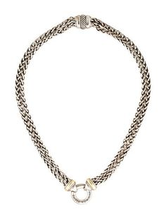 David Yurman Two-Tone Double Wheat Chain Necklace