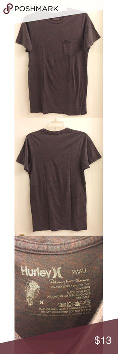 ✨OPEN TO OFFERS✨ EUC Hurley Pocket Tri-blend Crew Excellent used condition -only used a handful of times! Material consists of 50% cotton, 38% polyester and 12% rayon. The shade is hard to explain but is probably somewhere in between the two shade on the 4th photo. Beautiful color! The posted pictures do not do it justice! Hurley Shirts Tees - Short Sleeve