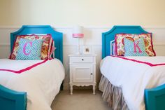 Beautiful Bahama Blue Beverly room by @beachbungalowdesigns and @Stacey Craven Cottages