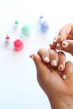 Ice Cream Cone Manicure | Squirrelly Minds