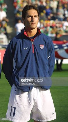 United States National Soccer Team player Ante Razov poses at the Gold Cup tournament in Pasadena California 19 January 2002 AFP PHOTO/Mike NELSON