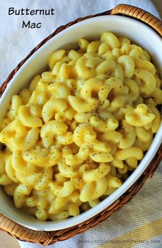 Butternut Mac - no dairy, no soy, no nutritional yeast - just real whole foods! The BEST vegan mac n cheese!!