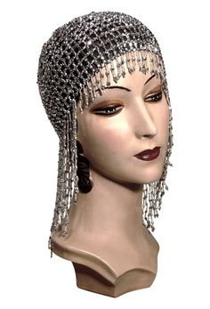 Customers love our Jazz Baby Flapper Cap!  Constructed on an elastic base, the cap molds easily to any head size or hair style.  Makes your 1920's or Gatsby ...