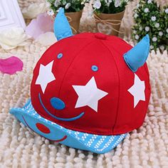 3c2c3949288ee Ruxi Spring Summer Smile Face Embroidery Mesh Baseball Caps (red). nokini  henry · baby hats