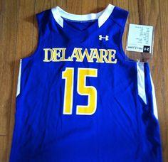 UA University of Delaware Blue Hens Women's M Lacrosse Jersey Blue Gold NWOT #UnderArmour #DelawareBlueHens