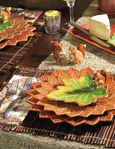 Fall Dinnerware | Charles Sadek Autumn Leaves Dinnerware | StephanieGrace