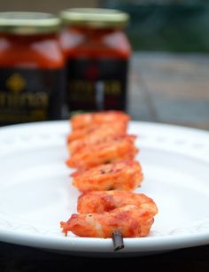 Grilled Harissa Shrimp & Green Beans - Musings of a Housewife featuring Mina Harissa, a scrumptious Moroccan pepper sauce! #sponsored #moroccan #foodie #goodeats