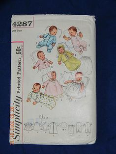 Vintage Simplicity 4287 Infants Layette in One Size