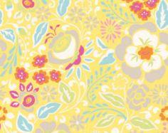 1 HALF YARD of Lisa in Yellow, Taza by Dena Designs