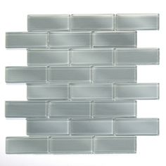 Lowes - Solistone�10-Pack 12-in x 12-in Mardi Gras Glass Light Gray Glass Wall Tile  $30.00 sq ft