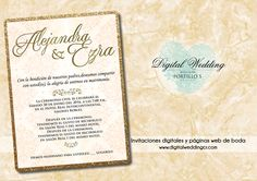 Invitaciones digitales con registro de confirmación en línea y páginas web de boda  E-mail: info@digitalweddingcr.com
