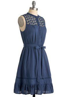 @Kyrsten Muniz kinda cute   Mount San Jacinto Dress in Blue, #ModCloth