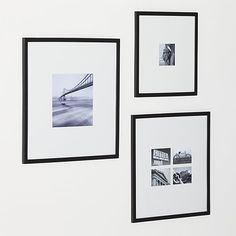 Matte Black 5x5 Wall Frame | Crate and Barrel