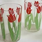 Collecting Peanut Butter Glasses & Swanky Swigs ....Tulip pattern