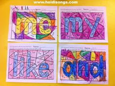 Heidisongs Resource: Brand New: Hidden Sight Word Coloring Worksheets! (Freebie alert!)