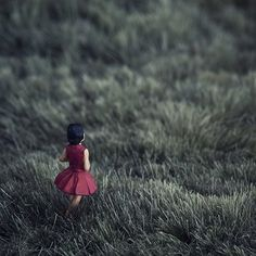 girl in the red dress by Erin Tyner