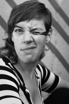 Merrill Garbus (tUnE-yArDs). This chick grows a full mustache and still looks amazing. Love.