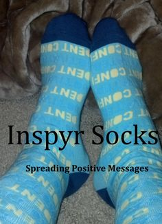 Inspry Socks - Spread Positive Messages With your Socks |Happily Blended
