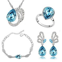 Price: $3.12 Like and Share if you want this     Get it here ---> https://www.yamidoo.com/fashion-wedding-jewelry-sets-3-colors-silver-plated-round-shaped-braceletstud-earrings-and-necklacering-womena50b101e54c23/    #fashion